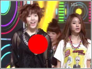 K-POPの乳首ポロリ映像【韓国TV】