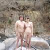 それはまるで野外露出な露天風呂のエロ画像