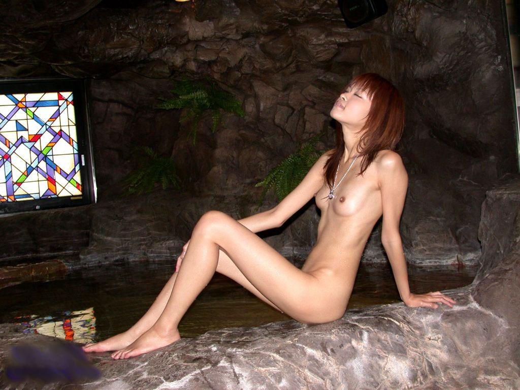 華奢 細い 裸 ガリガリ ヌード エロ画像【10】