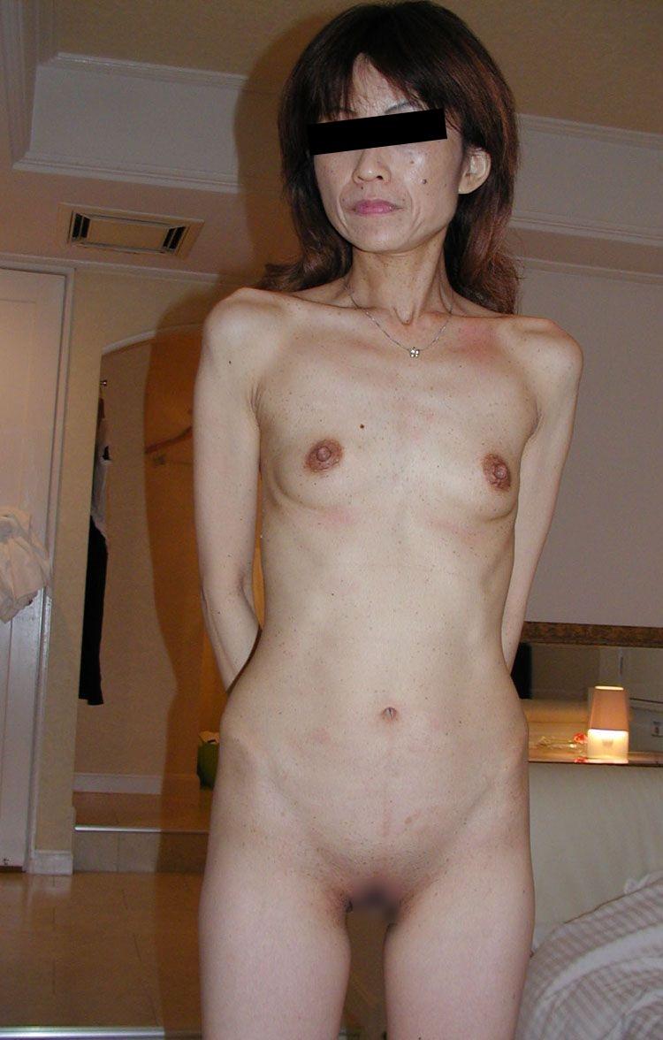 華奢 細い 裸 ガリガリ ヌード エロ画像【16】
