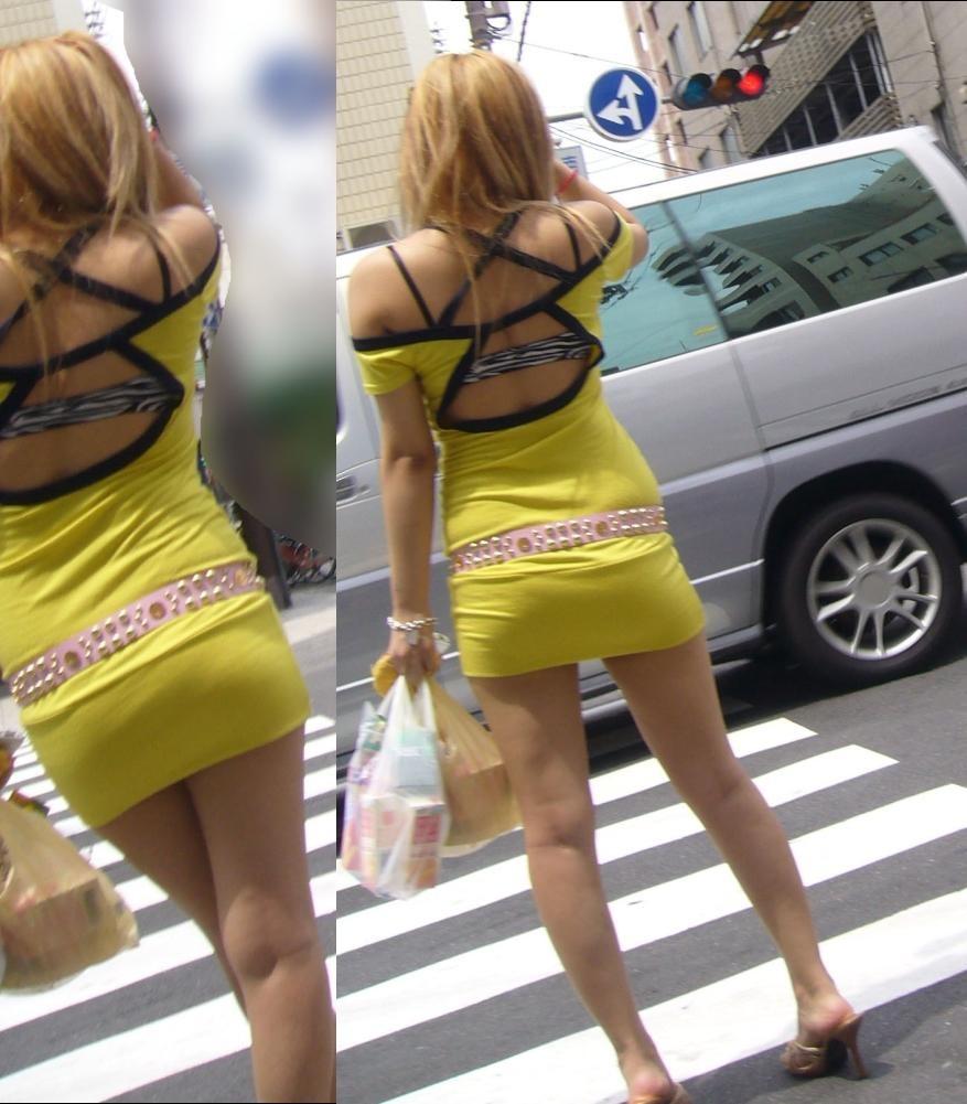 ギャル 背中 丸見え 後ろ姿 セクシー 街撮り エロ画像【15】