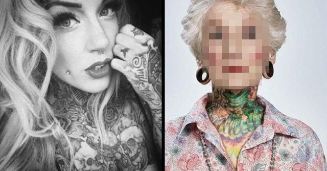 【画像】刺青・タトゥーをして40年経った人達の画像集