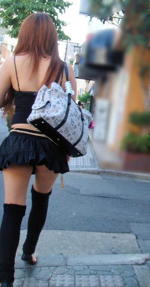 ギャル ファッション 街撮り 盗撮 過激 露出 勃起 エロ画像【2】