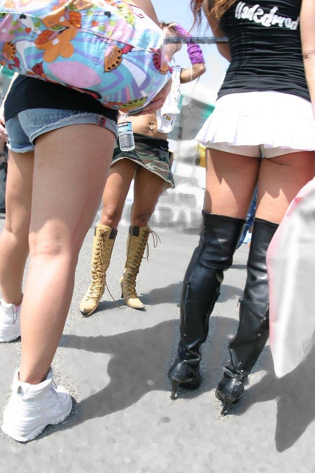 ギャル ファッション 街撮り 盗撮 過激 露出 勃起 エロ画像【3】