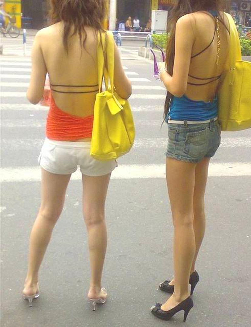 ギャル ファッション 街撮り 盗撮 過激 露出 勃起 エロ画像【7】