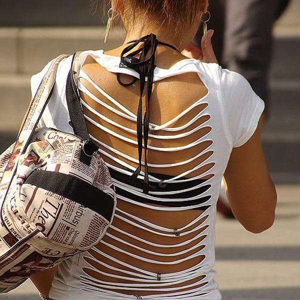 ギャル ファッション 街撮り 盗撮 過激 露出 勃起 エロ画像【9】