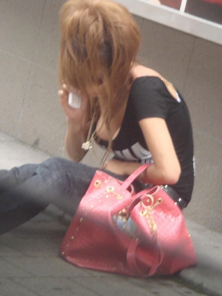 ギャル ファッション 街撮り 盗撮 過激 露出 勃起 エロ画像【12】
