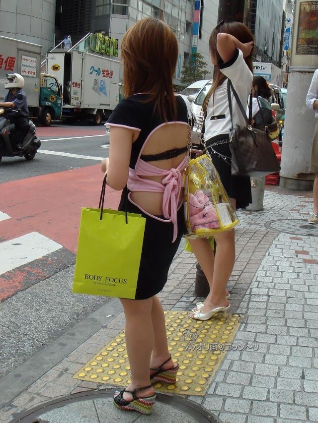 ギャル ファッション 街撮り 盗撮 過激 露出 勃起 エロ画像【13】