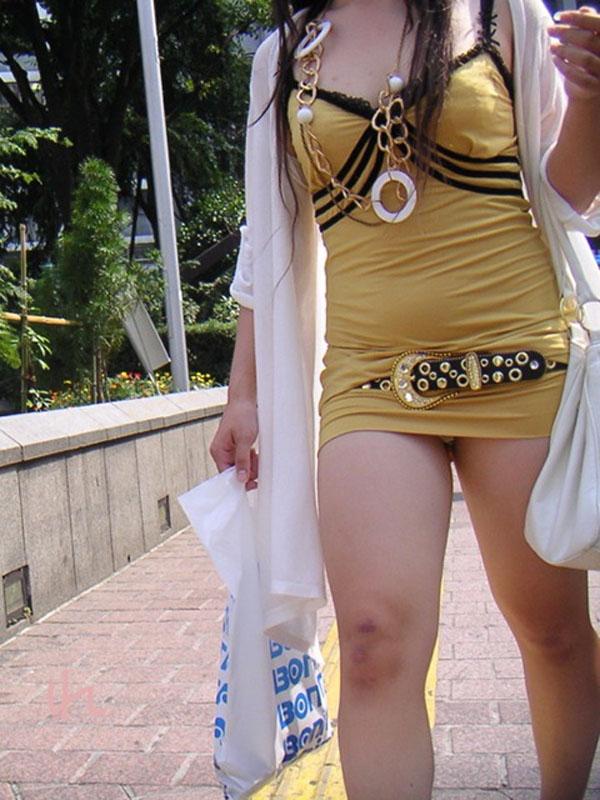 ギャル ファッション 街撮り 盗撮 過激 露出 勃起 エロ画像【20】