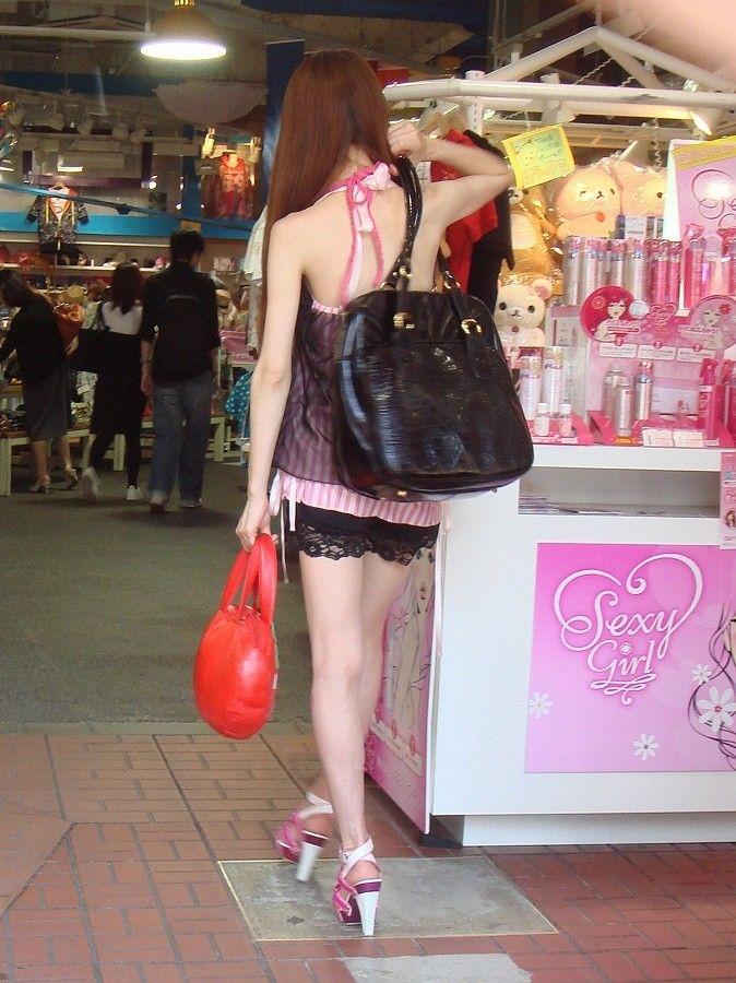 ギャル ファッション 街撮り 盗撮 過激 露出 勃起 エロ画像【25】