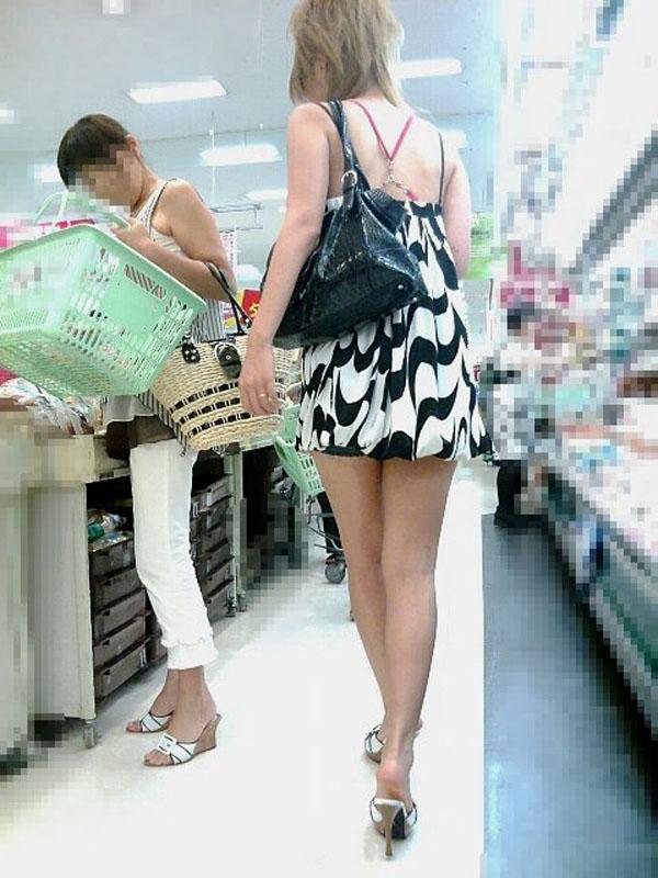 ギャル ファッション 街撮り 盗撮 過激 露出 勃起 エロ画像【30】