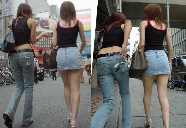 ギャル ファッション 街撮り 盗撮 過激 露出 勃起 エロ画像【31】