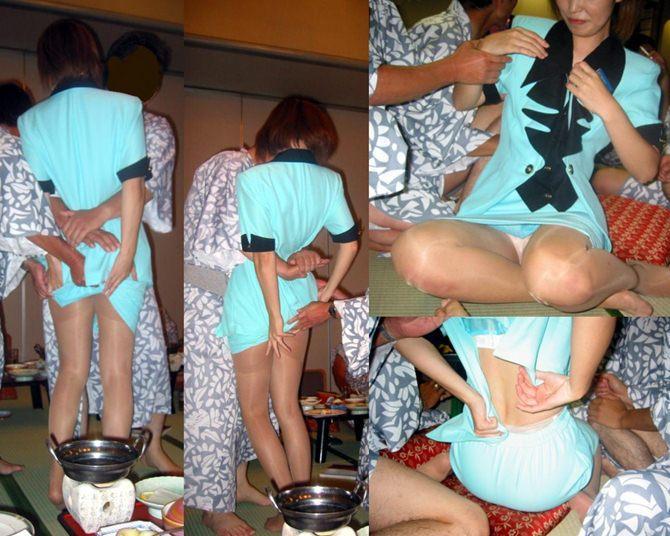 おばちゃん 温泉コンパニオン 人妻 熟女 エロ画像【26】