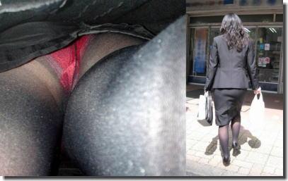 OLのパンツ逆さ撮り!働く女性をローアングルで見たエロ画像 ③