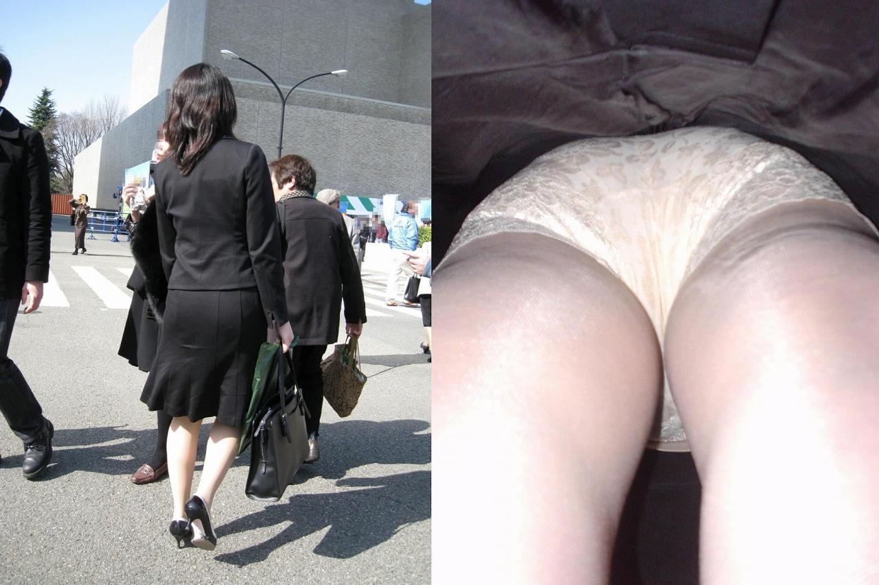 OL パンツ 逆さ撮り 働く女性 ローアングル エロ画像【3】