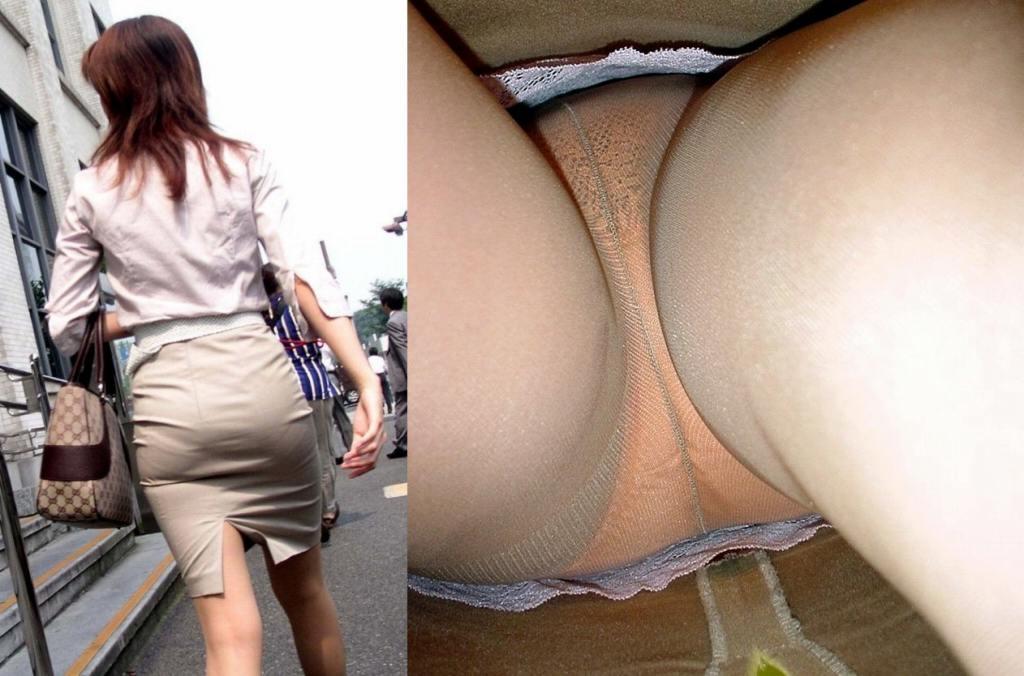 OL パンツ 逆さ撮り 働く女性 ローアングル エロ画像【4】