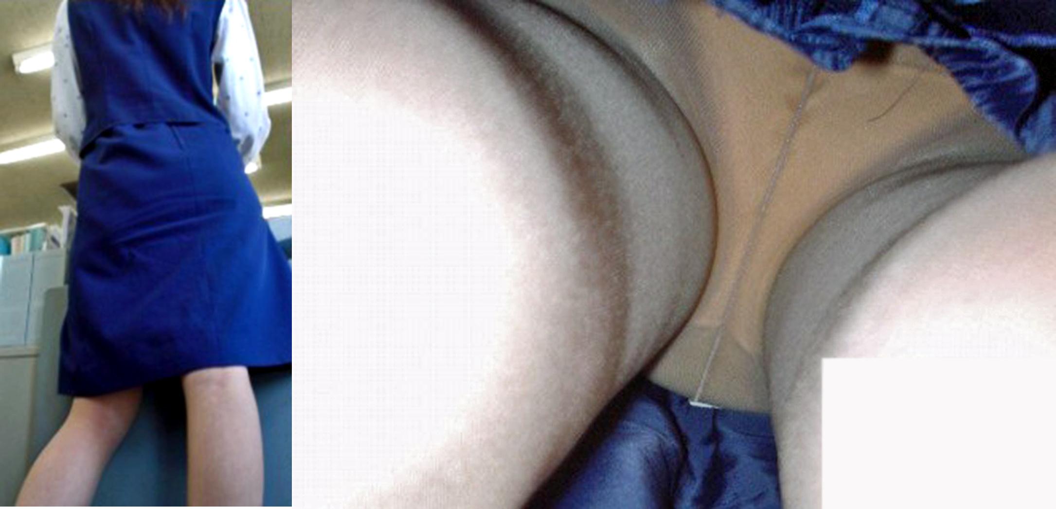OL パンツ 逆さ撮り 働く女性 ローアングル エロ画像【11】