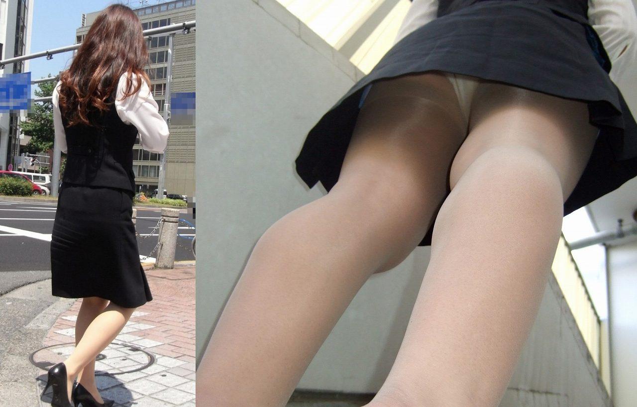 OL パンツ 逆さ撮り 働く女性 ローアングル エロ画像【13】