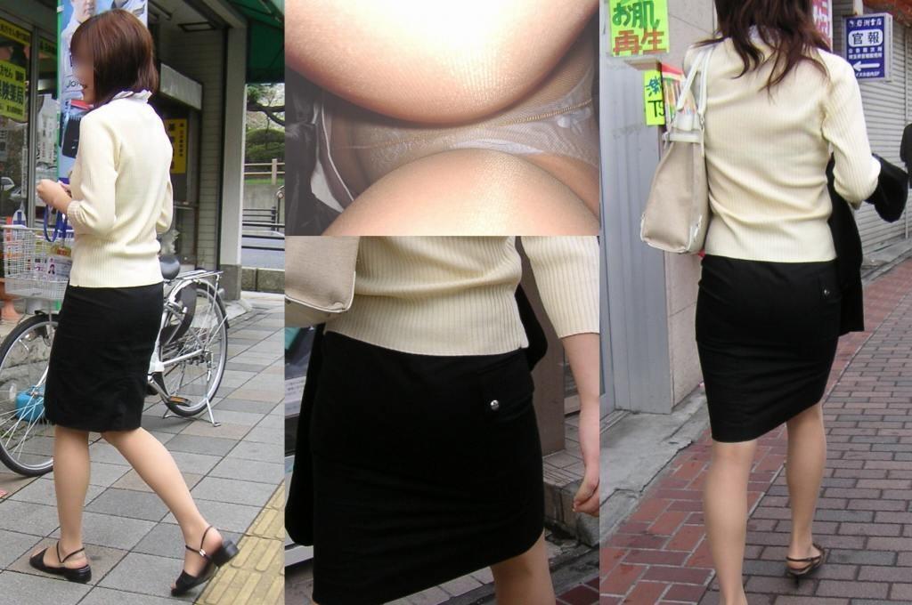 OL パンツ 逆さ撮り 働く女性 ローアングル エロ画像【14】