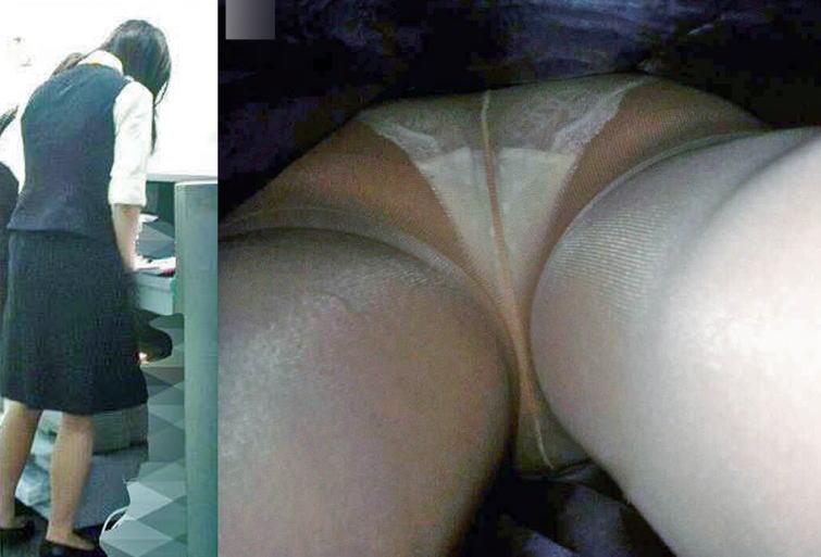 OL パンツ 逆さ撮り 働く女性 ローアングル エロ画像【16】