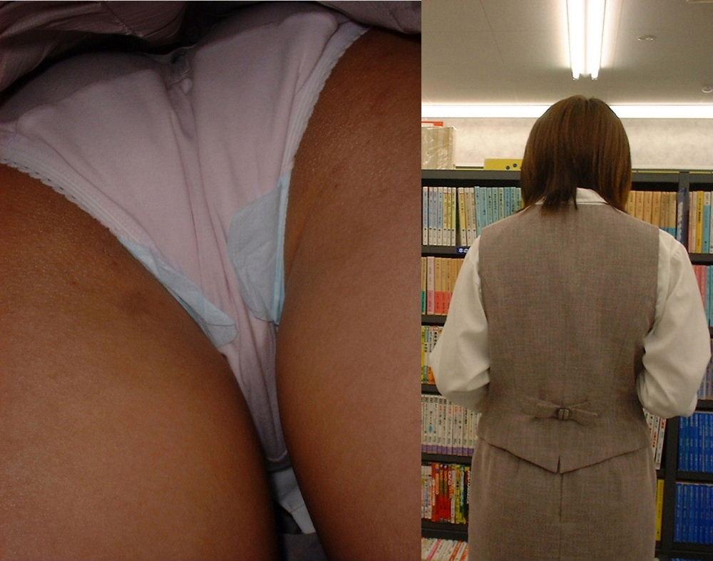 OL パンツ 逆さ撮り 働く女性 ローアングル エロ画像【22】