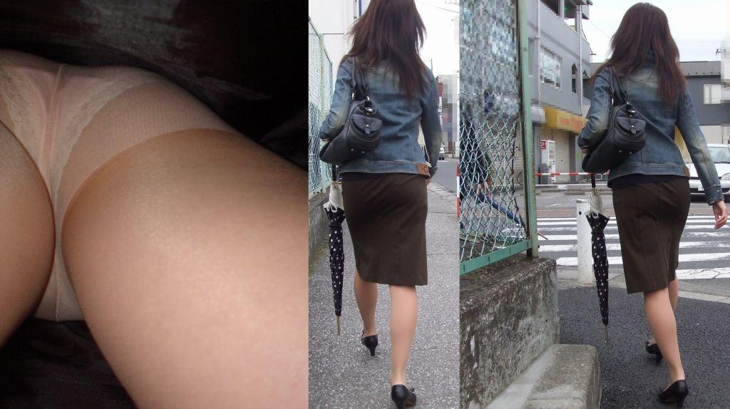 OL パンツ 逆さ撮り 働く女性 ローアングル エロ画像【24】