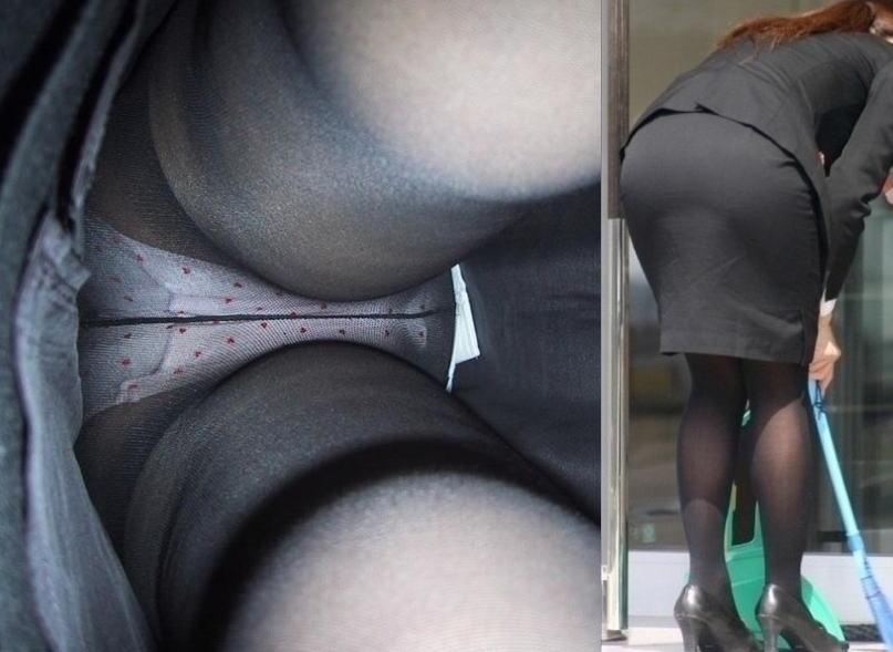 OL パンツ 逆さ撮り 働く女性 ローアングル エロ画像【33】