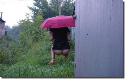 雨ときどき晴れのち雪で傘を差してる露出狂のエロ画像 ③