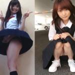 パンチラJK!美人な女子校生のパンツが見えてるエロ画像