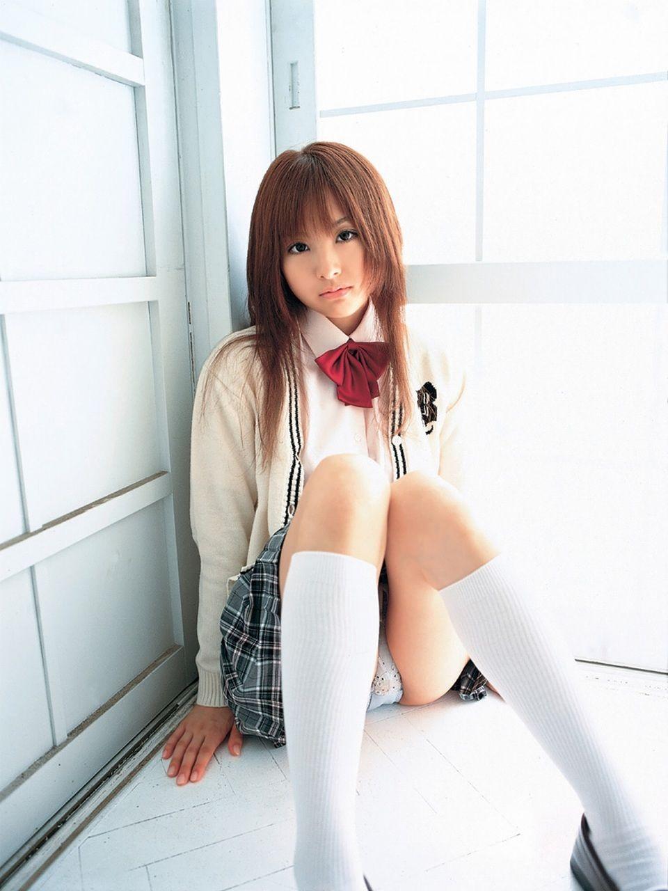 パンチラ JK 美人 女子校生 パンツ エロ画像【24】