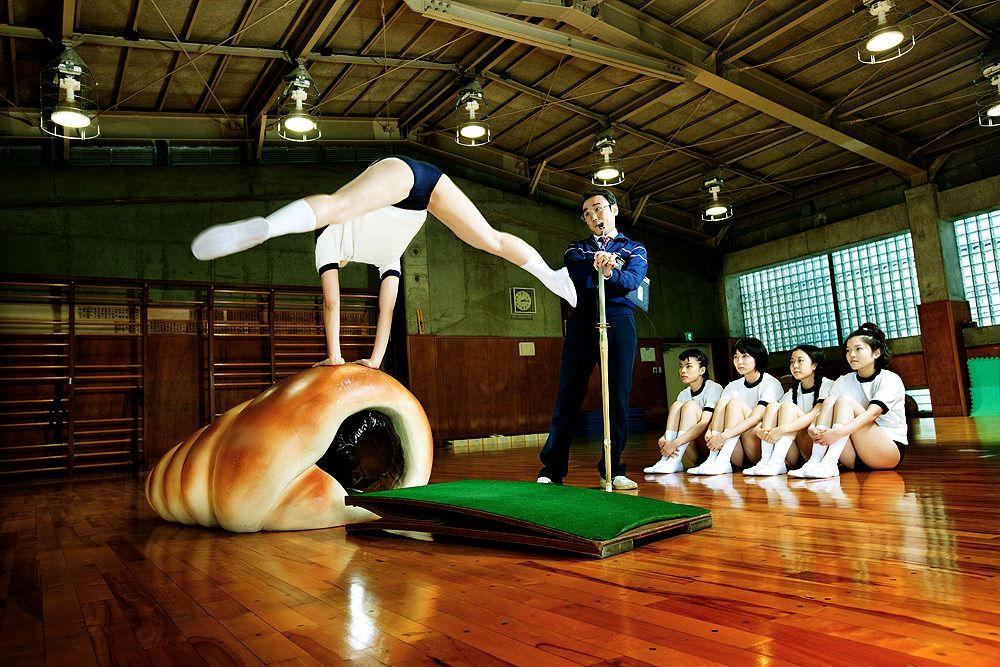 ブルマ ストレッチ 運動 エロ画像【35】