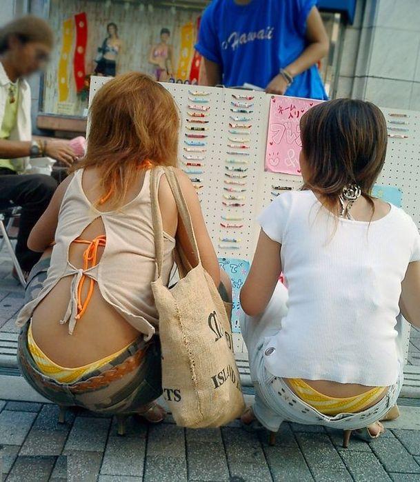 街撮り ギャル パンツ 派手 腰パン ハミパン エロ画像【1】