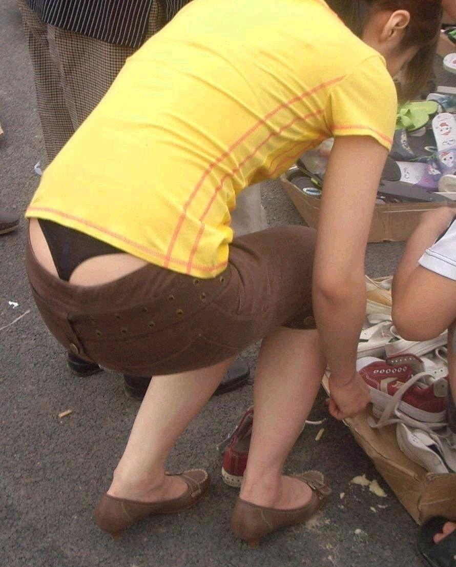 街撮り ギャル パンツ 派手 腰パン ハミパン エロ画像【3】