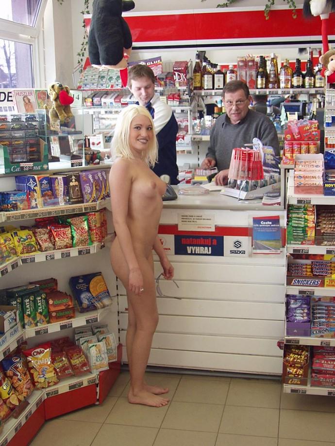 Public slut at gasstation - 4 3