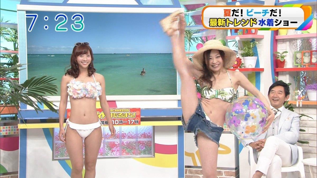 関西ローカル番組の最新水着特集で美女達のお○ぱい祭りwwwww