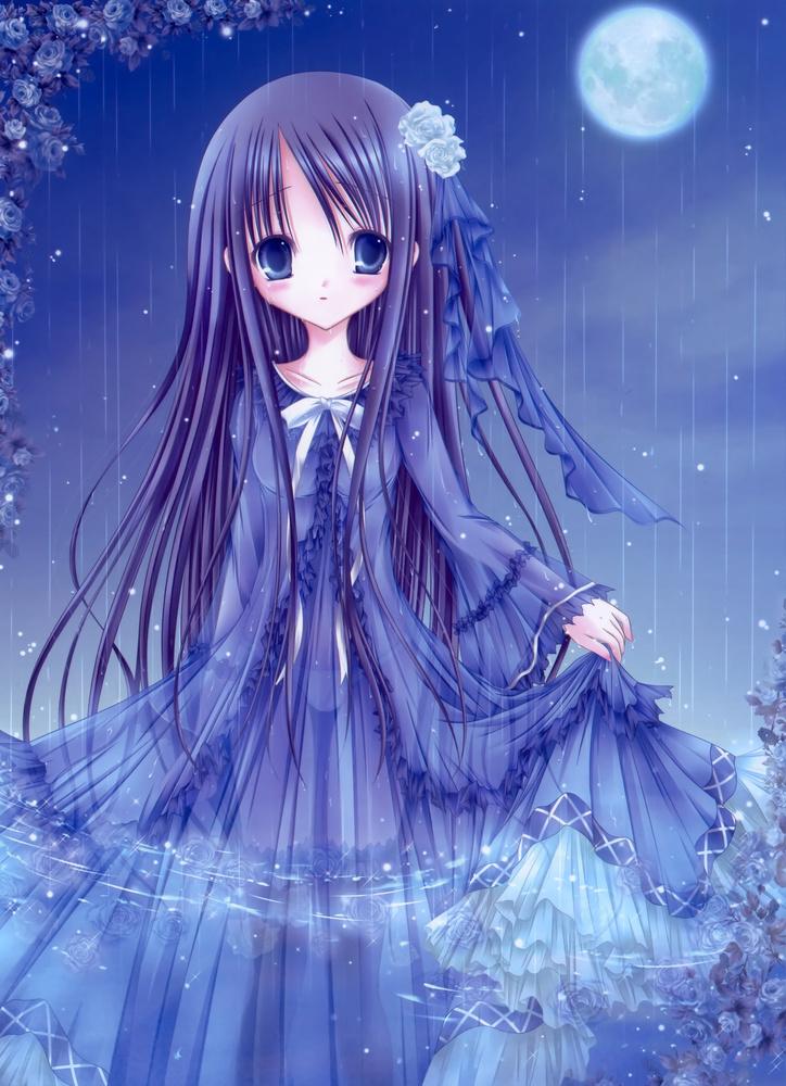 梅雨 雨 下着 透ける 二次元 濡れ透け エロ画像【6】