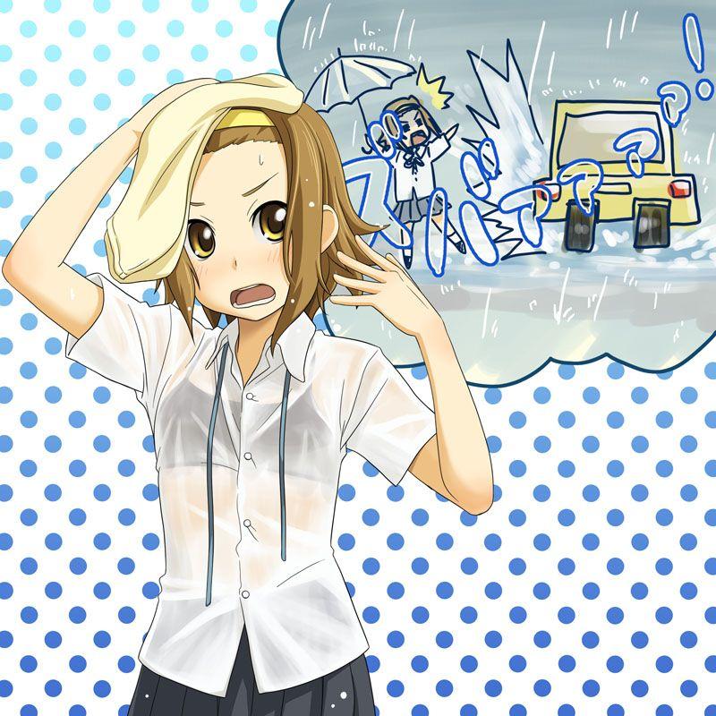 梅雨 雨 下着 透ける 二次元 濡れ透け エロ画像【35】