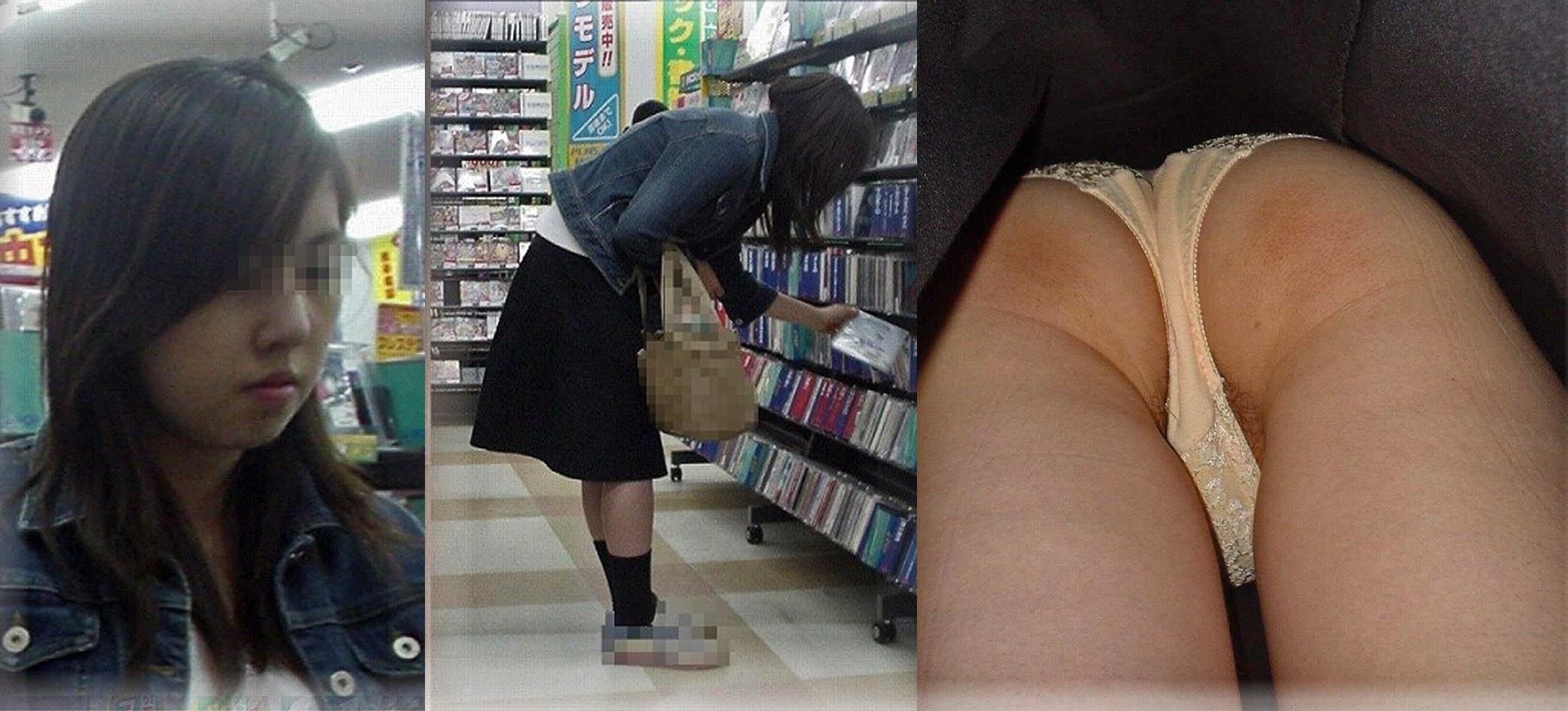 DVD CD レンタル屋 パンツ 無防備 パンチラ エロ画像【19】
