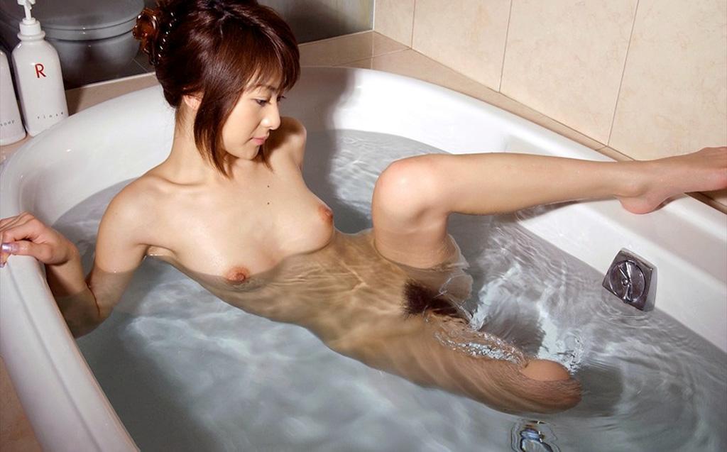 風呂 バスタブ マン毛 浴槽 陰毛 エロ画像【14】