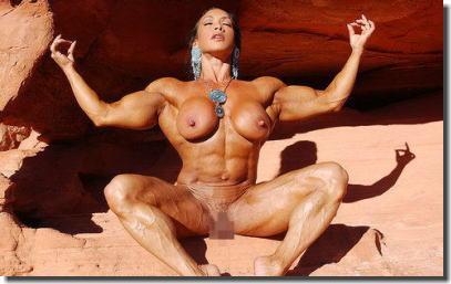筋肉がバキバキのムキムキで膣圧も強そうなヌード画像集 ③