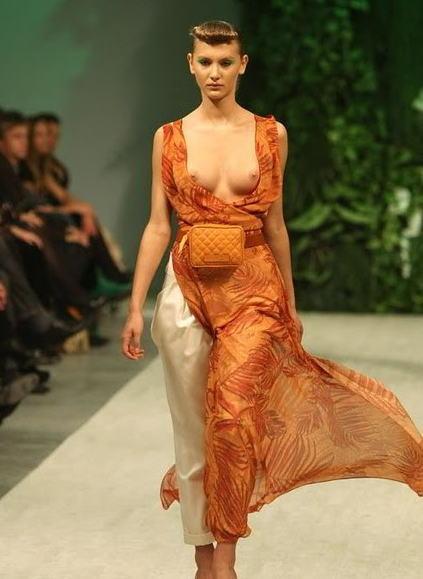 ファッションショー モデル 乳首 勃起 エロ画像【24】