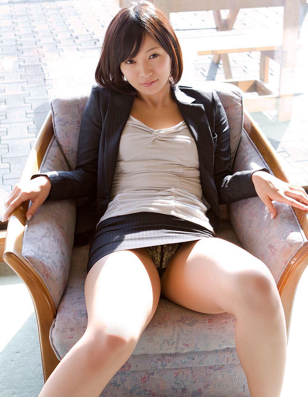 image Sexy hottie pantyhose tease