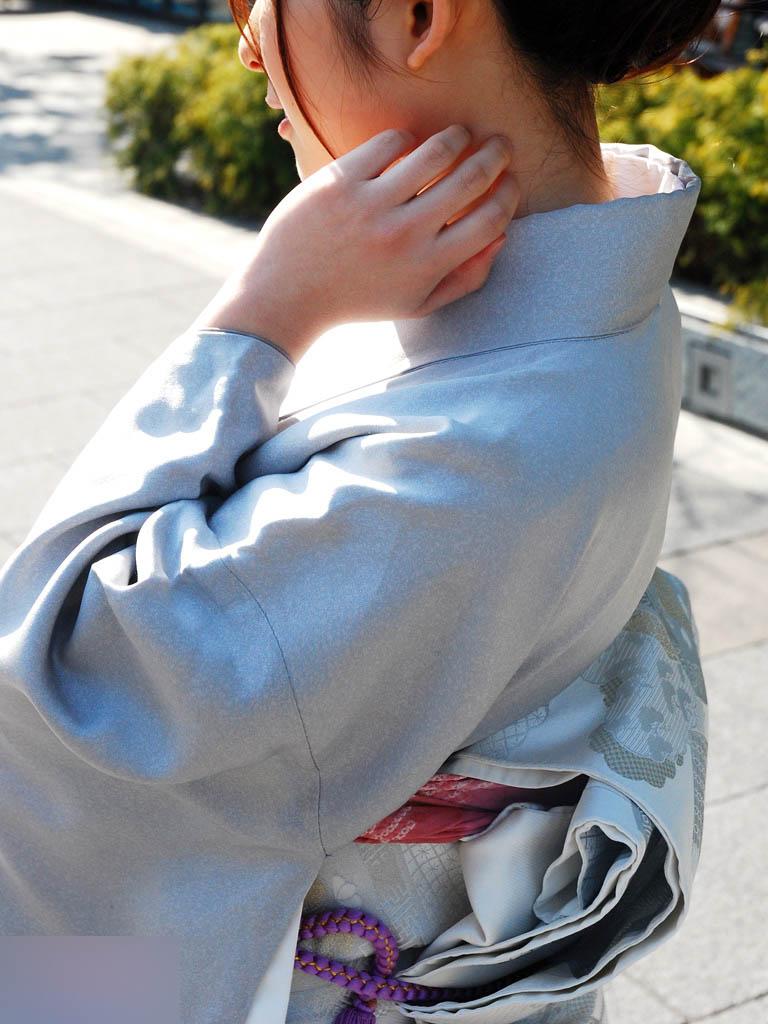着物 浴衣 和服 うなじ 色っぽい 襟足 エロ画像【12】
