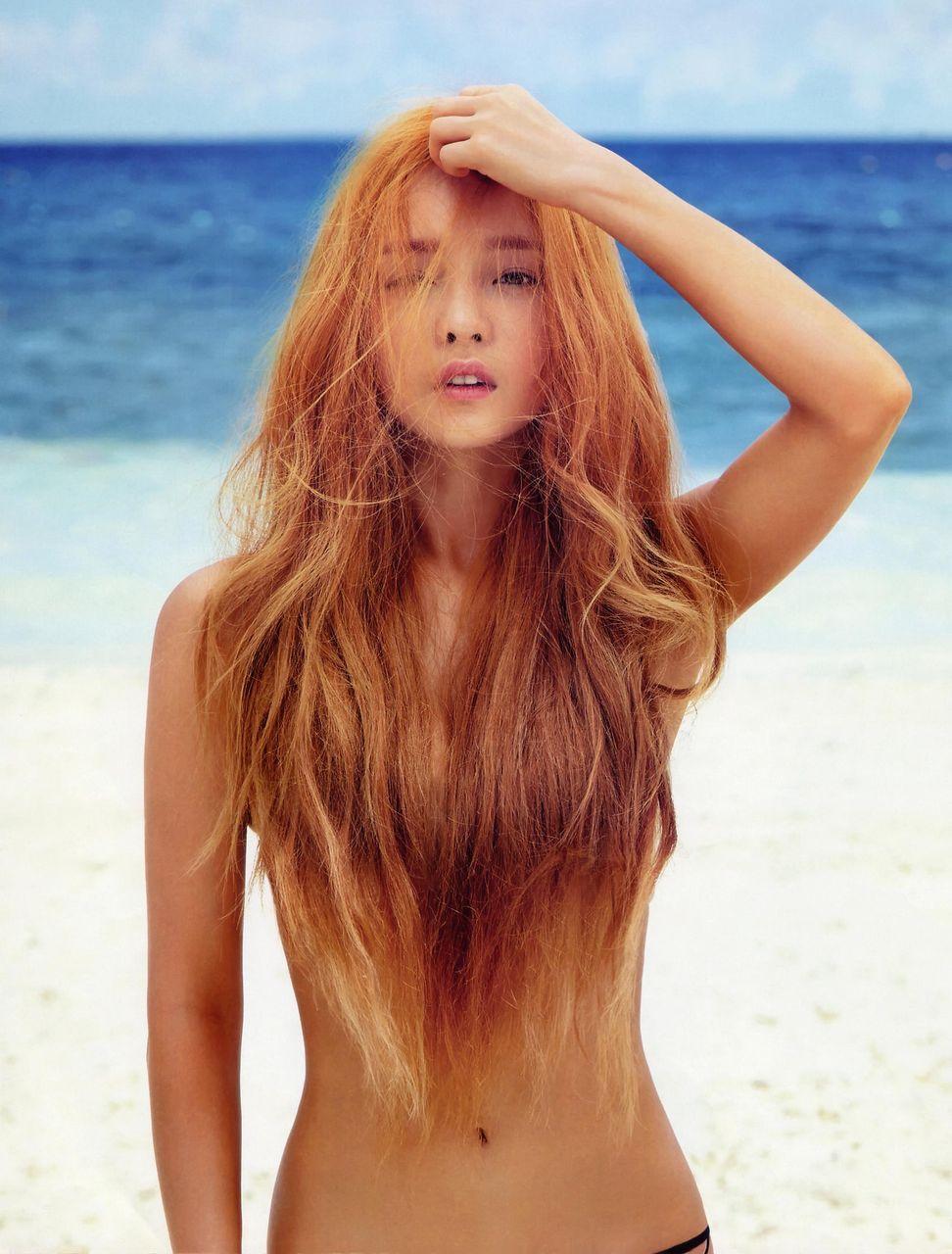 お姉さん ロングヘア 乳首 隠す 髪ブラ 美女 エロ画像【18】