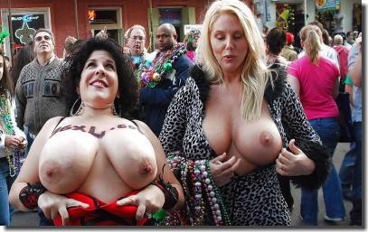 おっぱいカーニバル!マルディグラという乳出し祭り画像集 ③