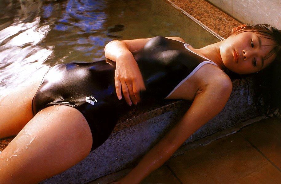 水着 もりまん スク水 競泳水着 股間 ぷっくり エロ画像【5】