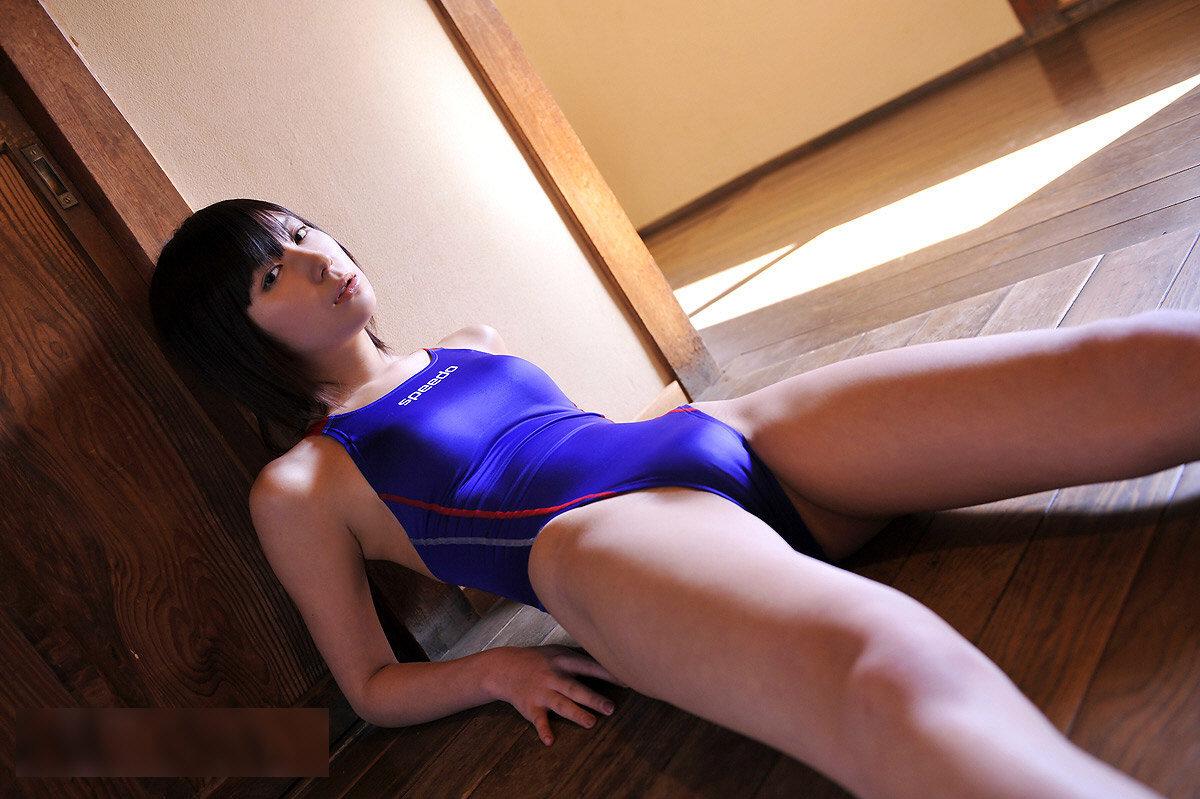 水着 もりまん スク水 競泳水着 股間 ぷっくり エロ画像【19】