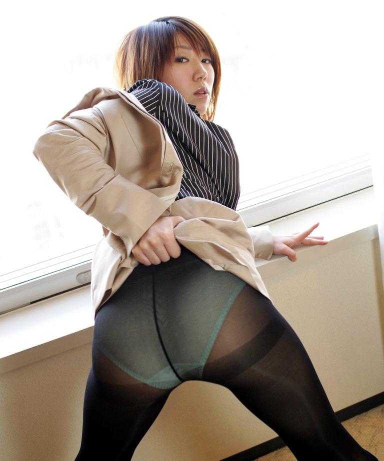 OL パンスト カラフル パンティ エロ画像【10】