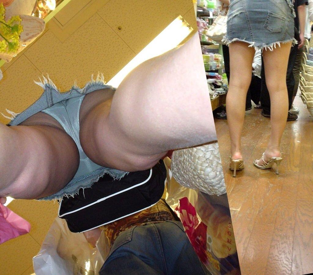 逆さ撮り パンチラ ローアングル パンツ エロ画像【38】