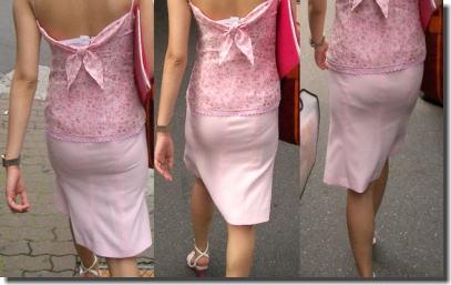 タイトスカートがお尻に張り付き透けパンしてるエロ画像 ②